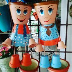 Flower Pot Art, Clay Flower Pots, Flower Pot Crafts, Flower Pot People, Clay Pot People, Clay Pot Projects, Clay Pot Crafts, Painted Plant Pots, Painted Flower Pots