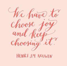 Finding joy!