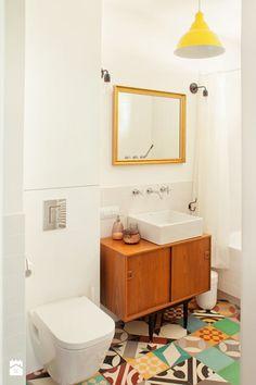 Łazienka styl Vintage - zdjęcie od Qbik Design