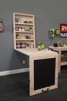 See how the RYOBI Nation Dream Workshop maximizes space with this DIY Murphy Worktable. Check out the features of this sturdy solution that folds easily onto a wall-mounted frame. Download the plans and start turning your space into your own Dream Workshop.