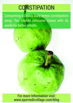 Get rid of Constipation! For More Information Visit: www.ayurvedicvillage.com/blog