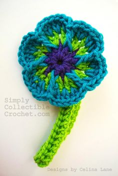 Easy Flower and Headband Crochet Pattern « The Yarn Box