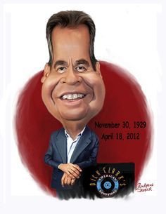 Celebrity Caricatures And Famous People | Cartoon: Dick Clark
