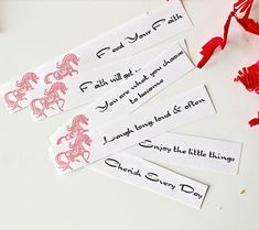 Printable Fortunes for Year of the Horse: Free Printables for the Chinese New Year | Disney Baby