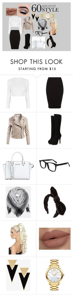 """Sophicated Beautiful"" by godessmh on Polyvore featuring Sans Souci, MICHAEL Michael Kors, BeckSöndergaard, Yves Saint Laurent, Movado, jobinterview and 60secondstyle"