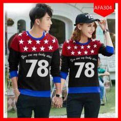 Fashion Sweater Couple 78 Star Kombinasi Terbaru