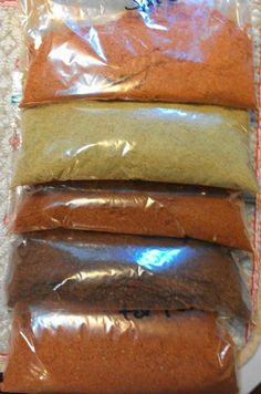 Chipotle Dry Rub;  New Mexico Green Chili Rub;  Cajun Seasoning;  BBQ Rub for Pulled Pork;   BBQ Spice