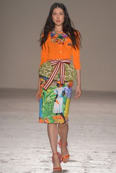 The details are in the skirt. Love the color details of the top. Stella Jean RTW Spring 2015 - Slideshow