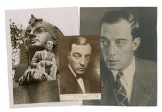 """Buster Keaton Dans ses films """"Sherlock, Jr"""", """"Buster s'en va-t'en guerre"""", """"Le roi des Champs Elysées"""", préparation de tournage, portraits, en vacances à Londres, avec sa femme, sa propriété… c. 1925-1955  13 tirages argentiques d'époque et postérieurs, dont un carte-photo De 13,5 x 8,5 cm à 20 x 24 cm  Collection de Madame X"""