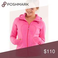 🆕 Hot Pink Scuba Hoodie Worn once! 💕 lululemon athletica Jackets & Coats