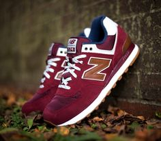 "New Balance 574 ""Canteen Pack"" –Burgundy / White – Navy"
