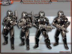 republic commando omega squad   REPUBLIC ELITE FORCES - Mandalorians & Omega Squad