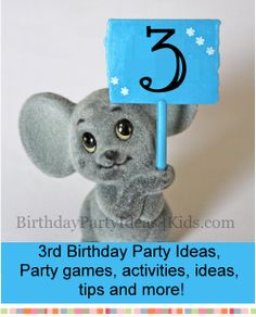 3rd Birthday Party Ideas - Birthday party ideas, games, activities, and more for the 3rd birthday!  Great tips and planning advice too.