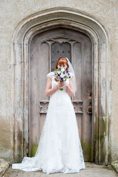 Lace Tulle Dress Bride Bridal Gown Colourful May Chapel Ruins Outdoor Wedding http://www.sourceimages.co.uk/