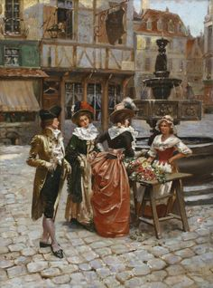 monsieurleprince: Henri Victor Lesur (1863-1900) - The flower seller