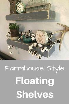 Floating Shelf Floating Shelves 10 Inch Ledge Shelf Farmhouse Shelf Rustic Floating Shelf Chunky Shelf Farmhouse Decor Cat Shelves #ad #homedecor