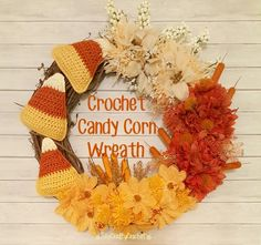 Crochet Candy Corn W