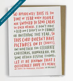 20 Unique Holidays Cards to Send Out This Season | StyleCaster