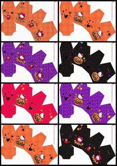 Precious Hello Kitty Halloween Free Printable Boxes.. ѼCQ #halloween #pumpkins #treats óÓò