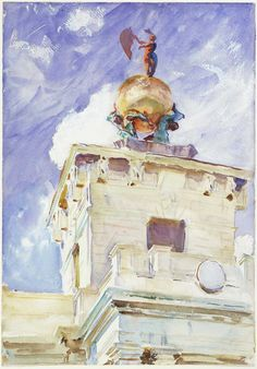 Venice: La Dogana    John Singer Sargent, about 1911  Sheet: 50.2 x 35.6 cm (19 3/4 x 14 in.)  Opaque and transparent watercolor over graphite pencil, with wax resist on paper