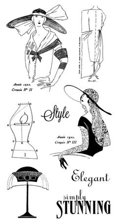 Cling stamps 2 from our new October 2013 Mid-Release Collection: Couture! #graphic45 #hamptonart