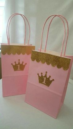 Pink Gold Princess Birthday Invitations OG by Gold Birthday Party, Birthday Favors, Baby Birthday, First Birthday Parties, Birthday Party Decorations, Diy Goodie Bags Birthday, 1st Birthday Princess, Princess Birthday Invitations, Princess Theme Party