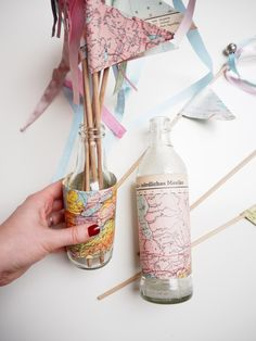 Wedding Wands, Hochzeit DIY, Motto Reisen, Glücksglöckchen, Reisen Wedding Wands, Pink Crafts, Diy Wand, Janina, Inspiration, Decor, Small Winter Wedding, Wedding Pinterest, Wand
