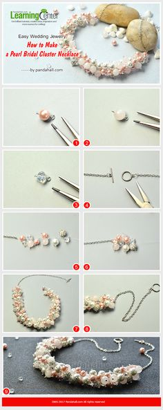 Easy Wedding Jewelry - How to Make a Pearl Bridal Cluster Necklace from LC.Pandahall.com