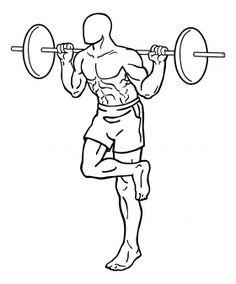 One Leg Barbell Squat 1 Leg Workouts For Mass, Best Leg Workout, Compound Leg Exercises, Squat Lift, Mass Building, Leg Training, Leg Curl, Legs