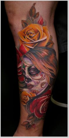 131 Best Day Of The Dead Tattoos Images One Day Death Nice Tattoos