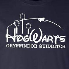 Hogwarts Gryffindor Quidditch Harry Potter Shirt, Funny Shirt. Choose Mens or Womens Shirt