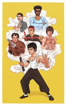 My very talented friend has created this beautiful  #Illustration  of #BruceLee and some of his famous movie opponents and had made them available for purchase in different sizes.  Check it out and support a fellow #artist.  https://society6.com/crystaltam07