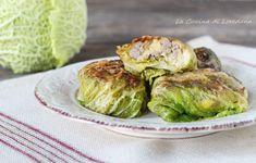 INVOLTINI DI VERZA RIPIENI AL FORNO con salsiccia, gustosi e saporiti Sprouts, Vegetables, Oven, Vegetable Recipes, Veggies