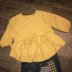 Mustard Layered Top
