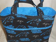 Carolina Panthers Tote Bag Handmade by FashionFlairbyKatylu