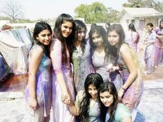 Holi wet girls