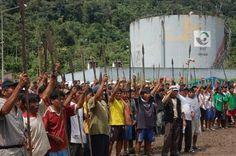 Unos 500 indígenas paralizan al menos 30 pozos petroleros en Amazonía peruana
