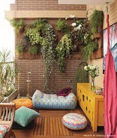 colorful terrace #balcony #terrace #varandas #decor #cores