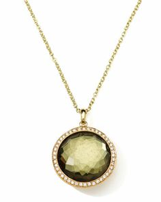 18K Gold Rock Candy Lollipop Necklace in Pyrite & Diamonds  by Ippolita at Neiman Marcus.