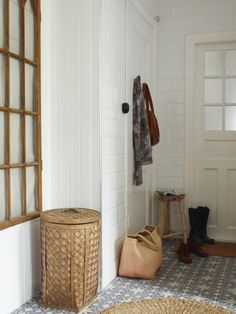 These tiles look great with plain white on walls.