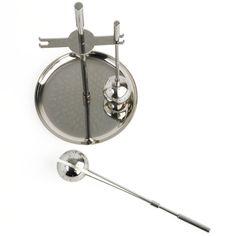 teekugelständer mit 2 teekugeln design otto rittweger + josef knau 1924 edelstahl h 18,6 cm, 142 g  175,00 € inklusive 19% ust zzgl. versandkosten