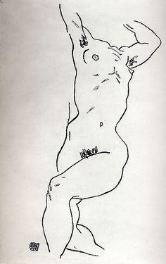 Torso of a Reclining Nude Egon Schiele