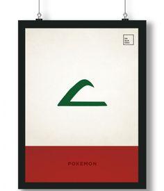 Pôster/Quadro minimalista Ash Pokemon