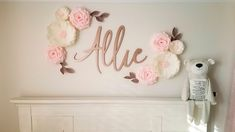 Paper Flowers- Paper Flowers Wall Decor-Flower Backdrop by LandofFlowers Paper Flower Wall, Paper Flower Backdrop, Flower Wall Decor, Flower Decorations, Paper Flowers, Wall Flowers, Wall Decorations, Large Flowers, Crepe Paper Roses