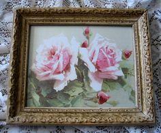 Rosas repollo impresión del arte Catherine por VictorianRosePrints