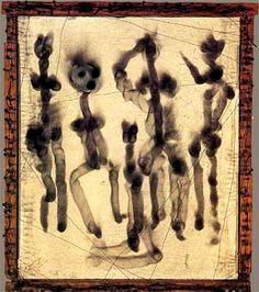 Sans titre, fumage sur toile, Wolfgang Paalen, 1937