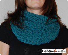 cuello ( bufanda ) ganchillo fácil / easy crochet scarf - By Palomanitas -