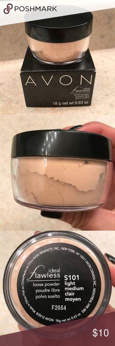 Loose Face Powder. Brand New. Flawless loose light medium powder from Avon. Brand New. Avon Makeup Face Powder