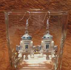 R2D2 Earrings For the Star War Fans by BentoZakka on Etsy, $6.50