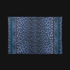 Blue Leopard and Lace Placemat  From the Blue Leopard and Lace Dining Collection. See matching napkins, towels and plates, and blue leopard throw pillows.  http://www.zazzle.com/blue_leopard_and_lace_placemat-193772684967946888?gl=UROCKDezineZone=238724183765874893
